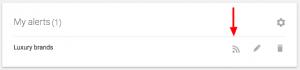 "Google Alerts ""Luxury Brands"" example"