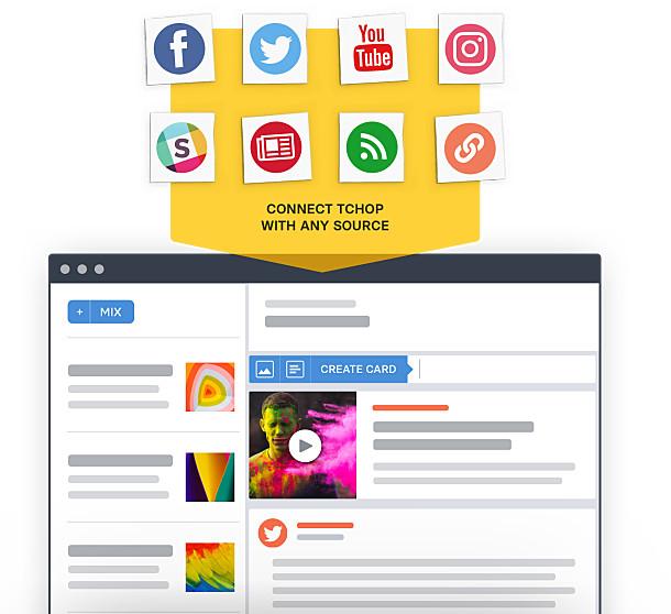 Content flow into tchop platform