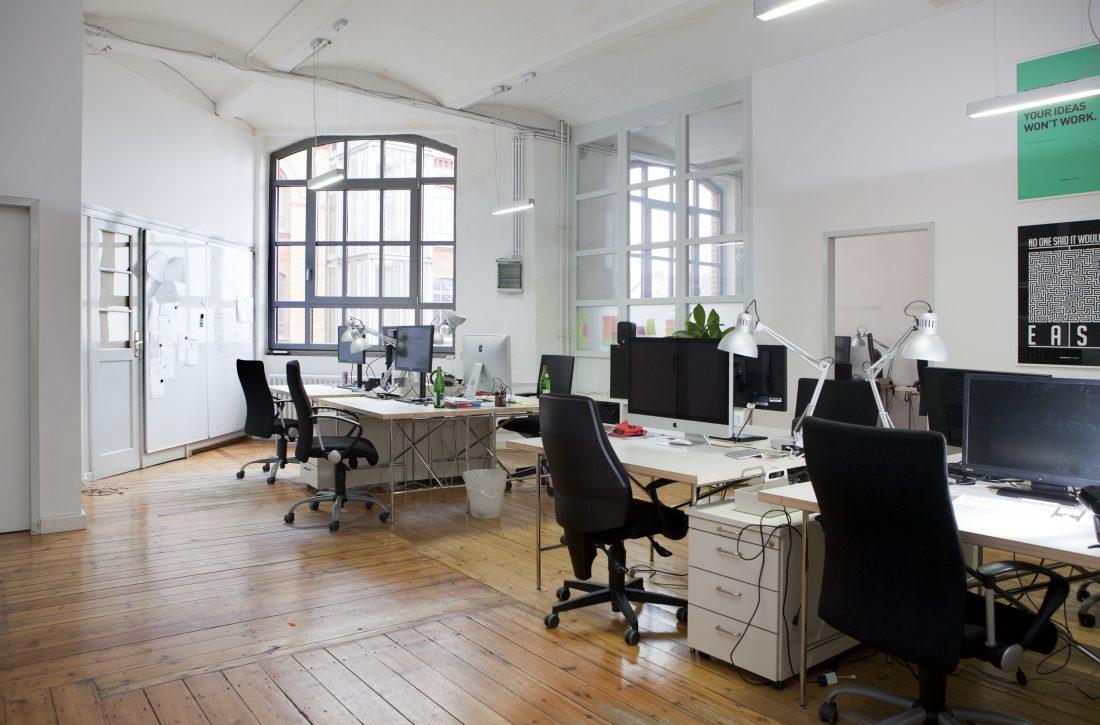 Empty tchop office in Berlin