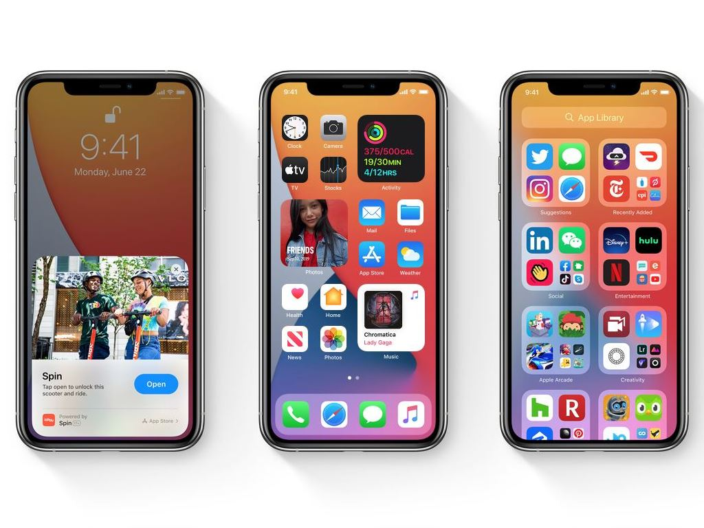 iPhones with new features